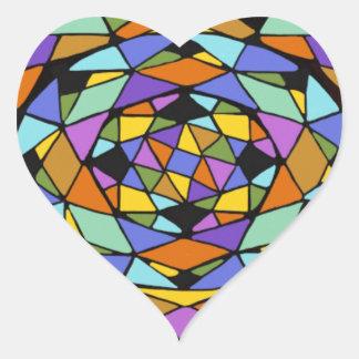 幾何学的な色の当惑 ハートシール