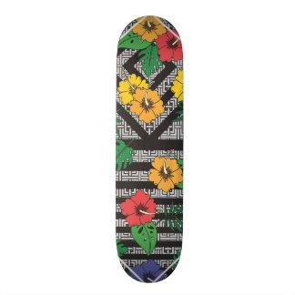 幾何学的な花のスケートボード スケートボード