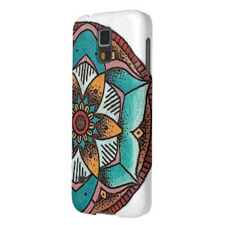 幾何学的な花の電話箱 GALAXY S5 ケース