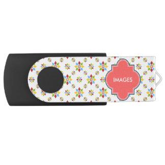 幾何学的な花模様 USBフラッシュドライブ