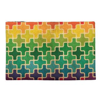 幾何学的な虹のアクセサリーバッグ トラベルアクセサリーバッグ