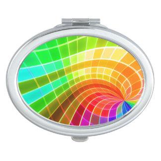 幾何学的な虹の渦巻