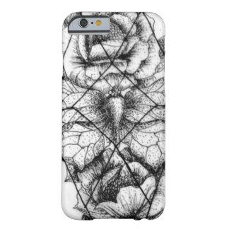 幾何学的な蝶および花 BARELY THERE iPhone 6 ケース