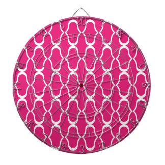 幾何学的な贅沢な東洋モロッコのデザインのピンク ダーツボード