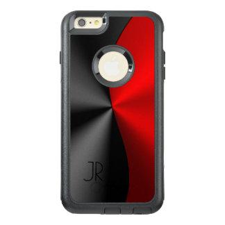 幾何学的な金属赤く及び黒いデザイン オッターボックスiPhone 6/6S PLUSケース