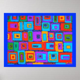 幾何学的な長方形ポスター ポスター