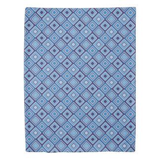 幾何学的な青の羽毛布団カバー 掛け布団カバー