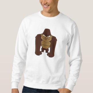 幾何学的なgorilla.cartoonのゴリラ スウェットシャツ