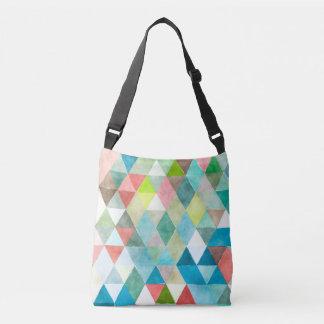 幾何学的なPixDezines Boho/三角形パターン クロスボディバッグ