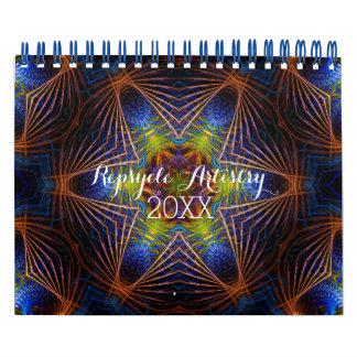 幾何学的なRepsycleの芸術のカレンダー カレンダー