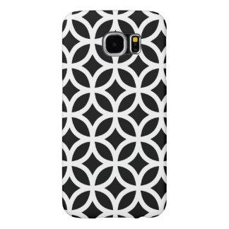 幾何学的なSamsungの銀河系S6の箱/白黒 Samsung Galaxy S6 ケース