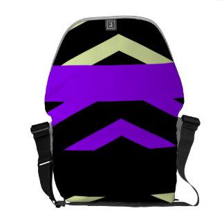 幾何学的縞で飾ります メッセンジャーバッグ
