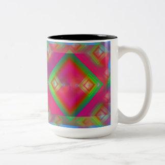 幾何学的 ツートーンマグカップ