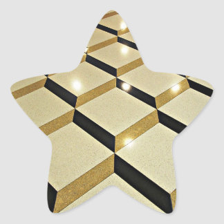 幾何学的 床 デザイン 星形シールステッカー