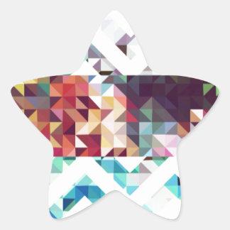 幾何学的。 正方形および三角形 星シール