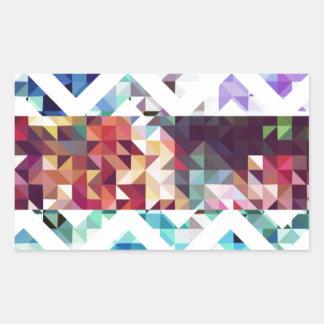 幾何学的。 正方形および三角形 長方形シール