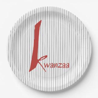 幾日のKwanzaaの特別なパーティーの紙皿 ペーパープレート