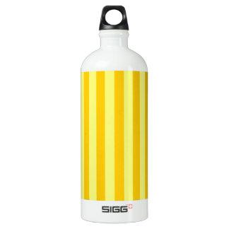広いストライプ黄色い-黄色および蜜柑の黄色 ウォーターボトル