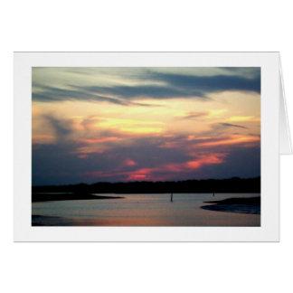 広い入り江の薄暗がり カード