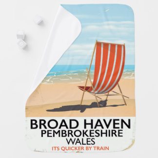 広い避難所、Pembrokeshireのウェールズの海岸 ベビー ブランケット
