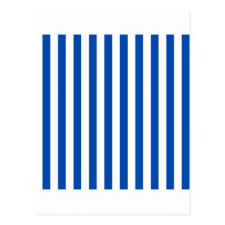 広い-白およびコバルト縞で飾ります ポストカード