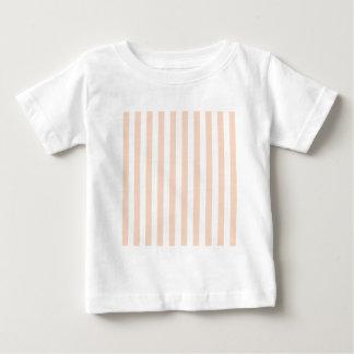 広い-白および杏子縞で飾ります ベビーTシャツ