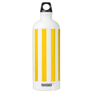 広い-白および蜜柑の黄色縞で飾ります ウォーターボトル