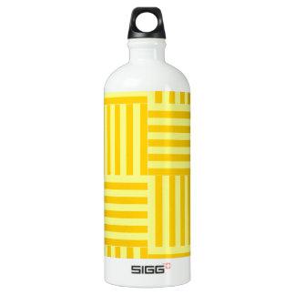 広いV&Hは-黄色および蜜柑の黄色縞で飾ります ウォーターボトル