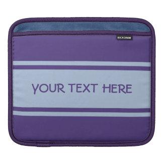 広くストライプでカスタムなiPadの袖 iPadスリーブ