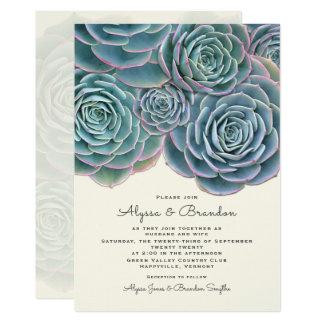 広く水気が多いボーダー結婚式招待状 カード