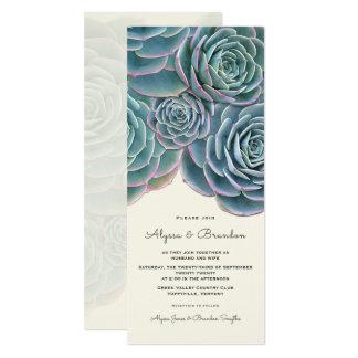 広く水気が多いボーダー高い結婚式招待状 10.2 X 23.5 インビテーションカード