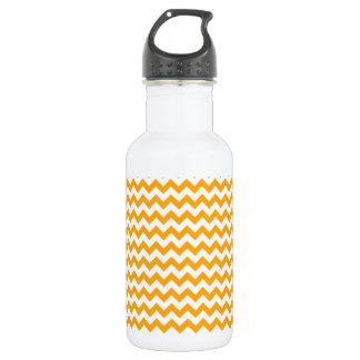 広のジグザグ形の-白くおよび暗い蜜柑 ウォーターボトル