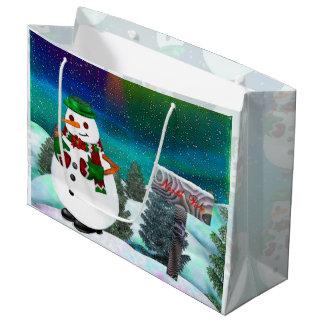 広の霜の降りたな町のクリスマスだけ ラージペーパーバッグ