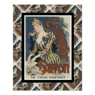 広告するヴィンテージフランスのな石鹸 ポスター