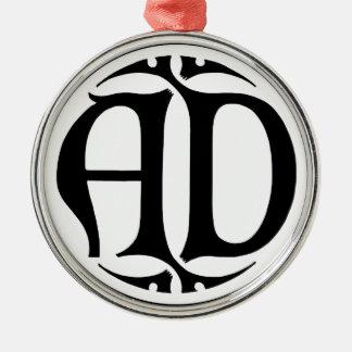 広告のモノグラム-黒い硬貨/ゴシック様式スタイル メタルオーナメント