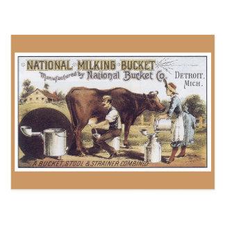 広告のラベルの国民のバケツのビクトリア時代の人の郵便はがき ポストカード