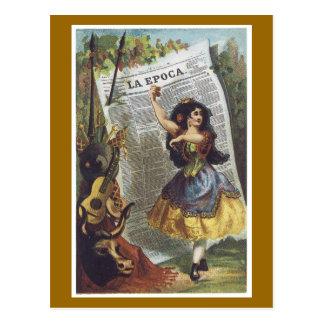 広告のラベルのLaのEpocaのヴィンテージの郵便はがき ポストカード