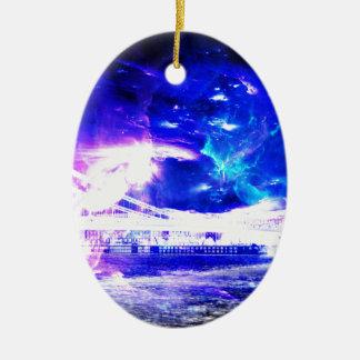 広告のAmorem Amisiの紫色のサファイアブダペストSapphir セラミックオーナメント