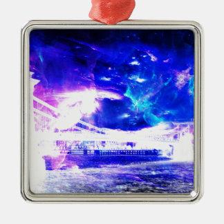 広告のAmorem Amisiの紫色のサファイアブダペストSapphir メタルオーナメント