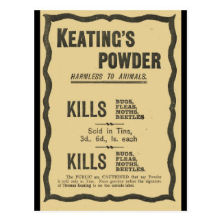 広告30年代、Keatingsの粉 ポストカード