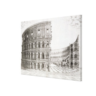 広告80 (版木、銅版、版画)で造られるColosseum キャンバスプリント
