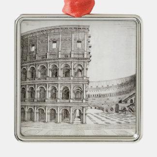 広告80 (版木、銅版、版画)で造られるColosseum メタルオーナメント