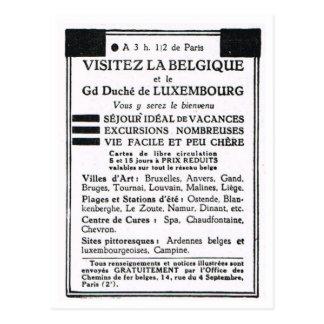 広告、訪問ベルギーおよびルクセンブルク ポストカード