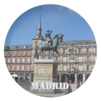 広場の市長、マドリードのプレート プレート