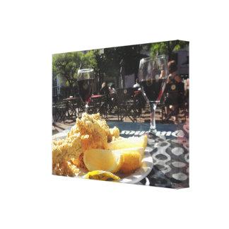 広場の昼食-ブエノスアイレス キャンバスプリント