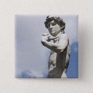 広場のdella 3のミケランジェロのデイヴィッド 5.1cm 正方形バッジ