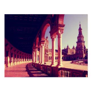 広場エスパーニャ、セビリア、スペイン ポストカード