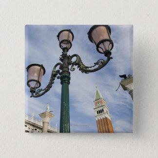 広場サンMarcoベニスイタリアの鐘楼 5.1cm 正方形バッジ