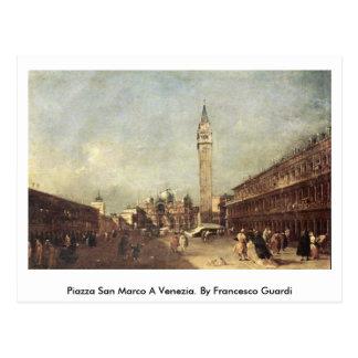 広場サンMarco Venezia。 フランチェスコGuardi著 ポストカード