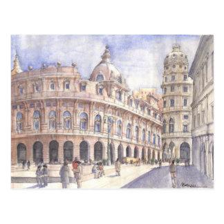 広場ジェノバ ポストカード
